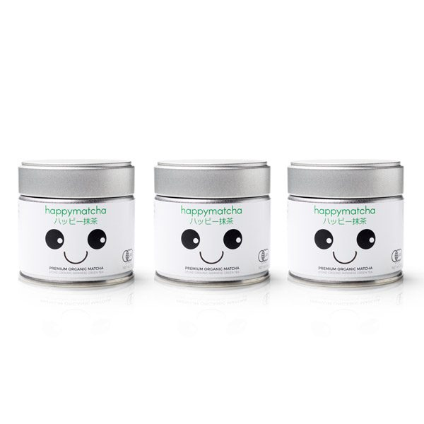 Happy Matcha 3 pack matcha powder organic