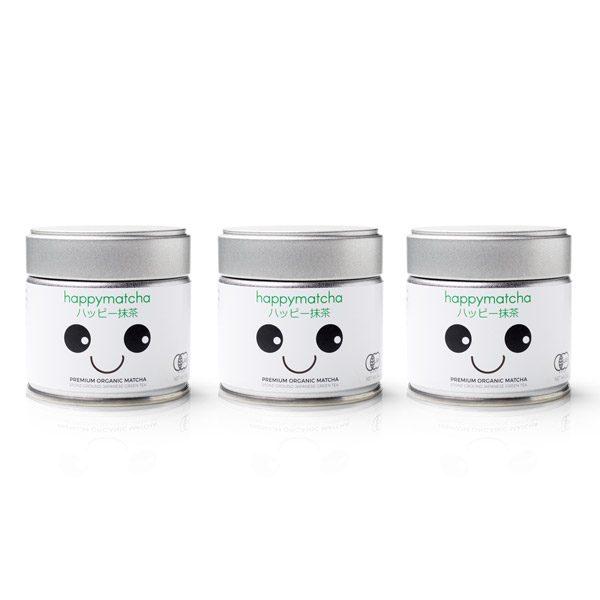 Happy Matcha 3 pack matcha powder organic